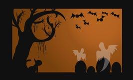 Halloween Karta Obrazy Stock