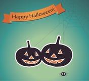 Halloween karta Zdjęcia Stock