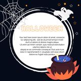 Halloween karta z i magiczny garnek gosh obrazy stock