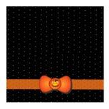 Halloween karta z pomarańczowymi Halloweenowymi baniami Zdjęcie Stock