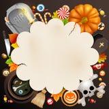 Halloween-Karte Lizenzfreies Stockfoto