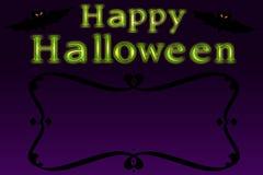 Halloween-Karte stockbilder