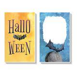 Halloween-Karte templates2 Lizenzfreies Stockfoto