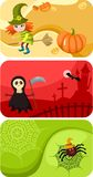 Halloween-Karten stockfotografie