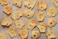 Halloween-Kartoffelchips Lizenzfreies Stockfoto