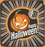 Halloween karty szablon Zdjęcia Stock