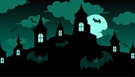 Halloween-kasteel royalty-vrije illustratie
