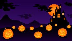 Halloween-kasteel vector illustratie