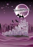 Halloween-Kasteel Royalty-vrije Stock Afbeeldingen