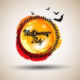 Halloween, kasteel, illustratie, verschrikking, nacht, silhouet, zwarte vakantie, vector illustratie