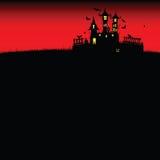 Halloween-kasteel rode vector Royalty-vrije Stock Foto