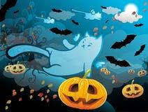 Halloween katt stock illustrationer