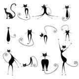 Halloween-katten royalty-vrije illustratie