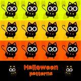Halloween-Katzenmuster Stockbilder