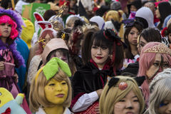 Halloween in Kawasaki Japan. KAWASAKI,JAPAN - OCTOBER 27: The spectacular costumed attendees in the most annual amazing Halloween parade in Japan with 3000 Stock Images