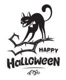 Halloween-kenteken royalty-vrije illustratie