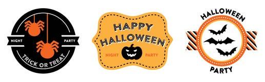 Halloween-kentekens royalty-vrije illustratie