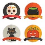 Halloween-kentekens Royalty-vrije Stock Foto's