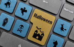 Halloween key on keyboard Royalty Free Stock Photography