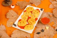 Halloween kid party snack Royalty Free Stock Image