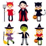 Halloween kids. An illustration of kids in halloween costumes Royalty Free Stock Photos