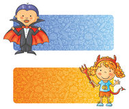 Halloween kids banners Royalty Free Stock Images