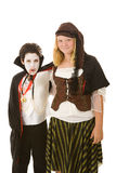 Halloween Kids - Brother and Sister Royalty Free Stock Images