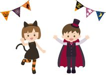 Halloween kids1. It is an illustration of a Halloween kids stock illustration