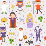 Halloween kids pattern Royalty Free Stock Image