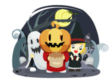 Halloween kids trick or treat - vector Royalty Free Stock Image