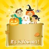 Halloween-Kinder Stockbild