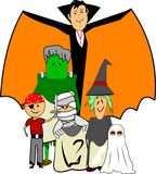 Halloween-Kinder Stockbild