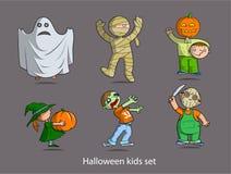 Halloween-Kinder eingestellt Lizenzfreie Stockfotografie