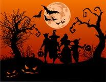 Halloween-kinderen stock foto