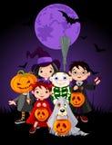Halloween-kinderen royalty-vrije illustratie