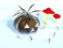 Halloween - Kindversion Stockbild