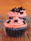 Halloween-kleine Kuchen Stockbilder