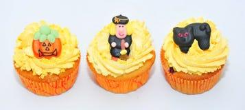Halloween-kleine Kuchen Lizenzfreie Stockfotos