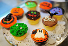 Halloween-kleine Kuchen Lizenzfreie Stockfotografie