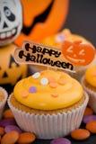 Halloween-kleiner Kuchen Lizenzfreies Stockfoto