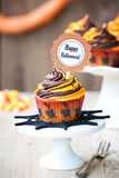 Halloween-kleiner Kuchen Lizenzfreies Stockbild