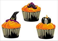 Halloween-kleiner Kuchen stock abbildung