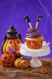 Halloween-kleiner Kuchen Lizenzfreie Stockbilder