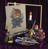 Halloween in kleuren 1 Stock Afbeelding