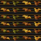 Halloween-Knuppel met strepenachtergrond Royalty-vrije Stock Afbeelding
