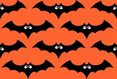 Halloween-knuppel naadloos patroon Stock Foto