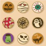 Halloween-koekjes vector illustratie