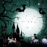 Halloween kort Royaltyfria Bilder