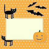Halloween kort Fotografering för Bildbyråer