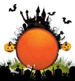 Halloween kort med pumpa Arkivbild